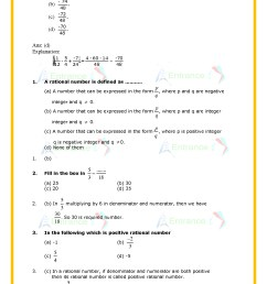 Class 7 Rational Numbers Worksheet   Printable Worksheets and Activities  for Teachers [ 1754 x 1240 Pixel ]