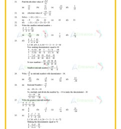 CBSE Class 7 Maths worksheet for chapter-9 Rational Numbers [ 1754 x 1240 Pixel ]