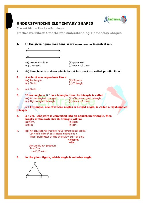small resolution of Class 6 maths chapter-5 Understanding Elementary Shapes Questions \u0026  worksheet with solutions