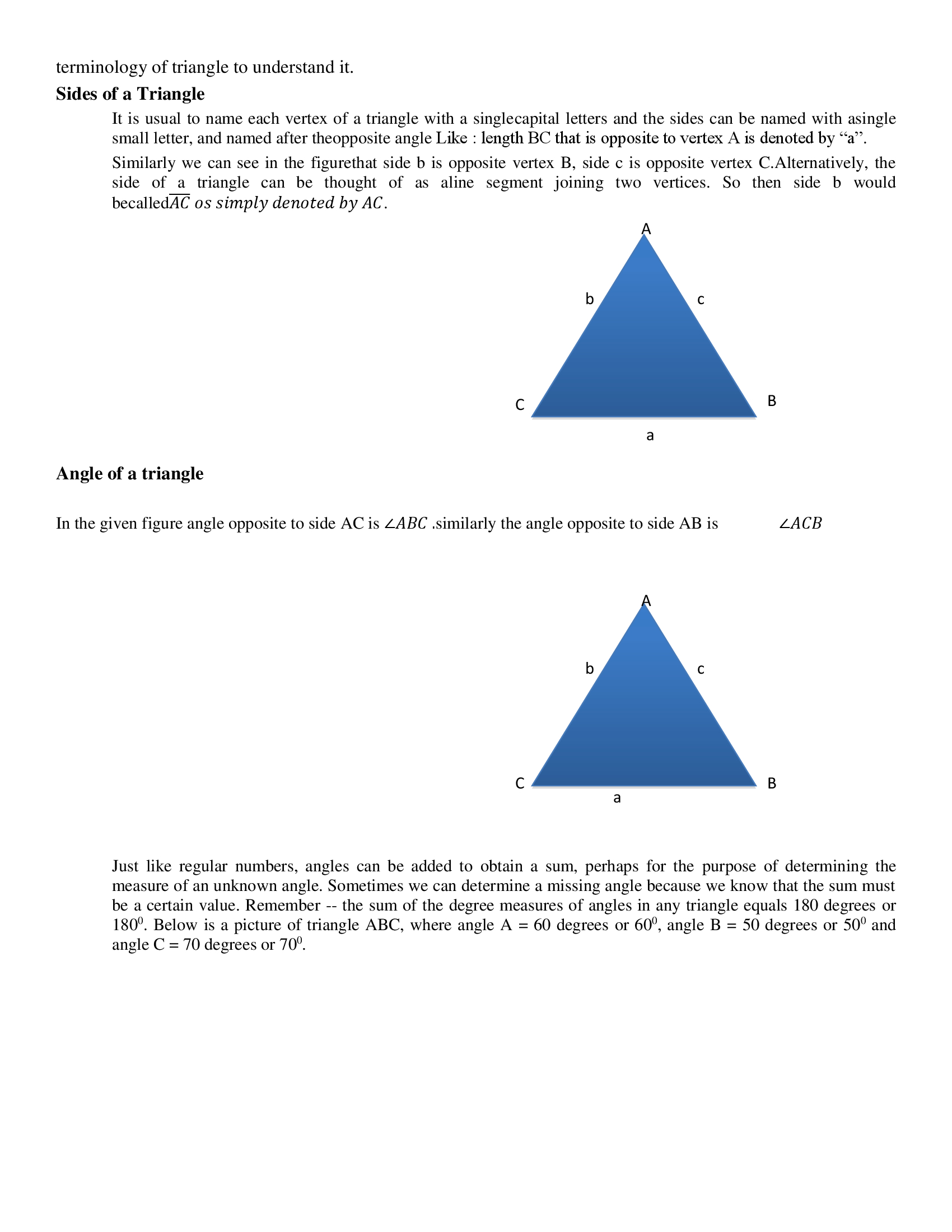 Properties Of Triangles Types Of Angles Properties Of