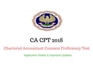 CA CPT 2017-18