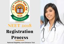 NEET 2018 Registration Process