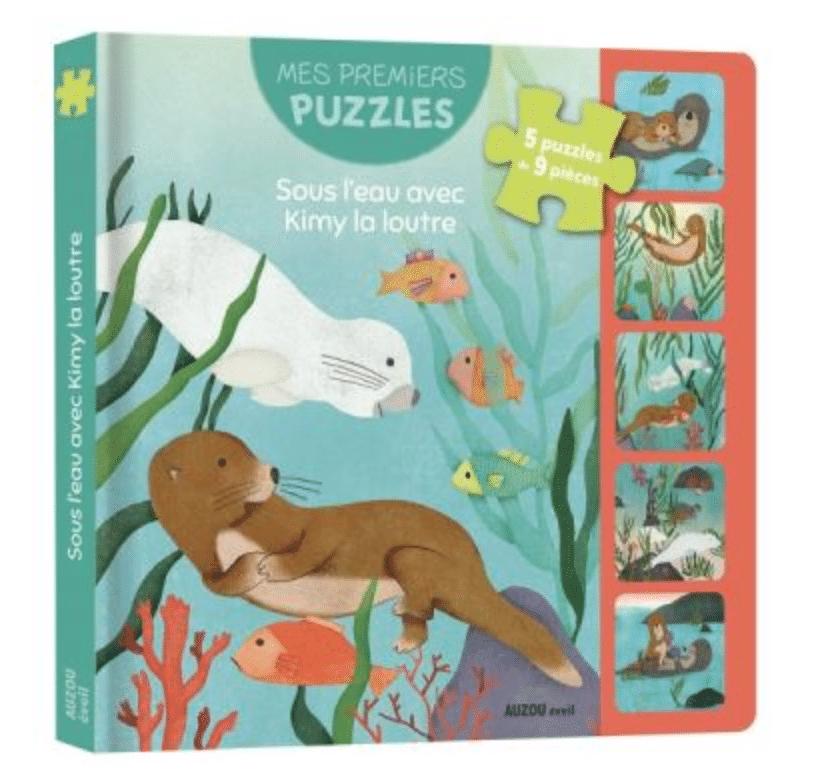 Mes premiers puzzles sous l'eau avec Kimy la loutre Auzou éveil Cadeaux 3 ans