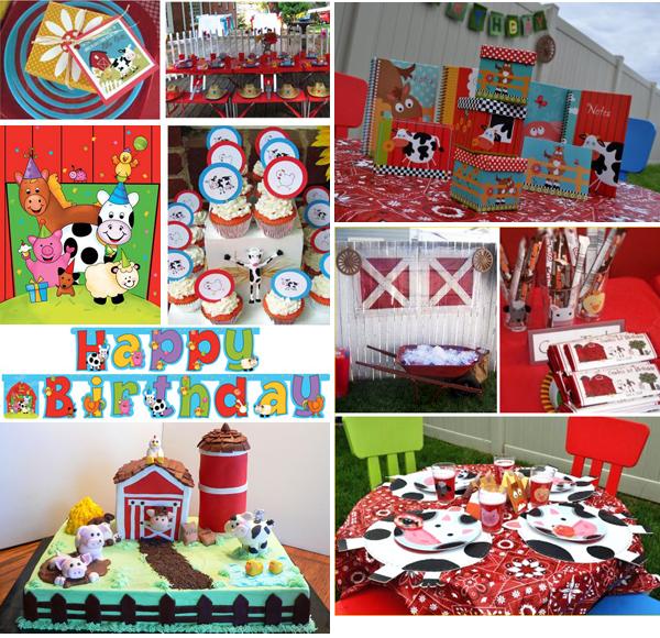 Fiesta en la granja Ideas para decorar la primera fiesta
