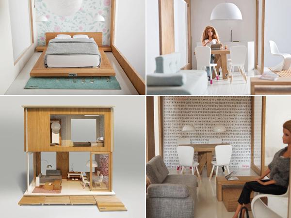 Casas de muecas de Miniio Ikea para Barbie