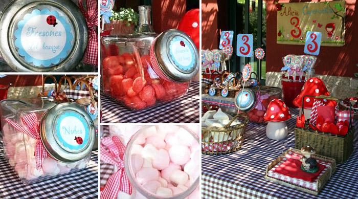 Fiesta infantil de Caperucita Roja al aire libre