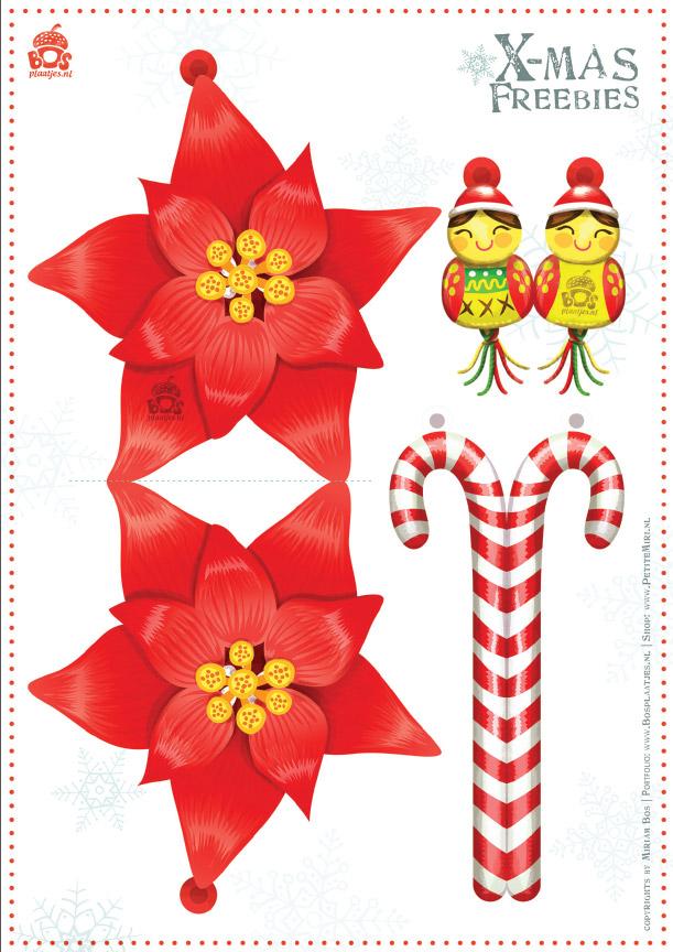 Figuras de papel de Navidad para descargar gratis e imprimir