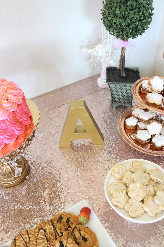 Decoracin para Fiesta Baby Shower de Nia en Rose Gold y