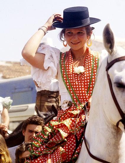 Infanta Elena de flamenca