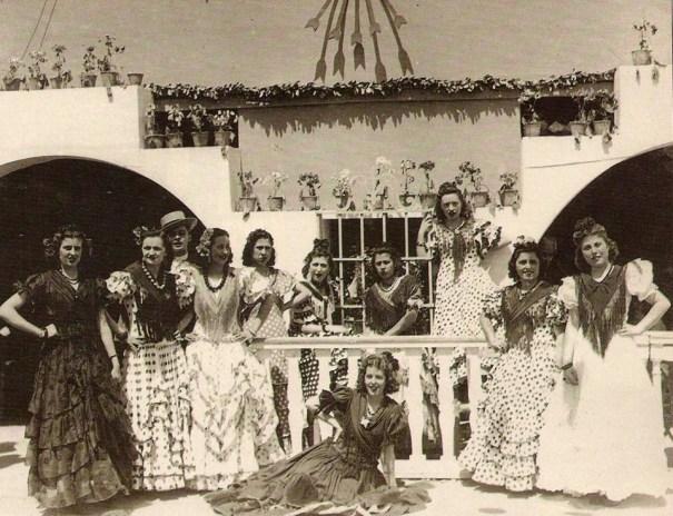 postales costumbristas flamencas