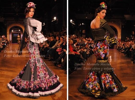 Traje de flamenca de Manuela Macias