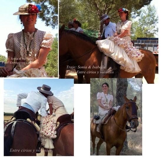 Rocio 2015 Entre cirios y volantes traje Sonibel 2