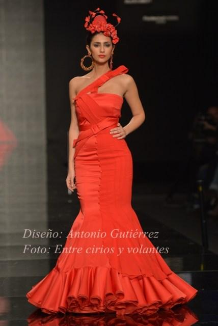 traje de flamenca rojo antonio guitierrez