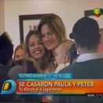 Paula Chaves y Peter Alfonso ya son marido y mujer