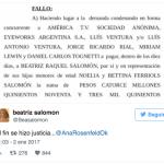 Beatriz Salomón le ganó un juicio millonario a Jorge Rial, Luis Ventura, Cuatro Cabezas y América
