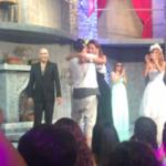 En el Día de los Enamorados, hubo beso de El Polaco y Silvina Luna en escena