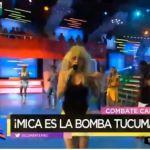 Mica Viciconte se puso una panza falsa e imitó a La Bomba Tucumana