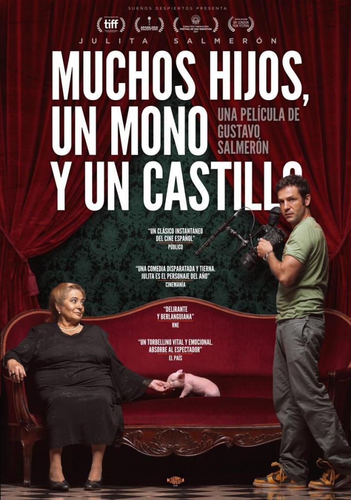 """Poster """"Muchos hijos, un mono y un castillo"""" de Gustavo Salmerón"""