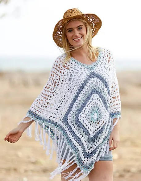 Kit Poncho Bohemian Blues