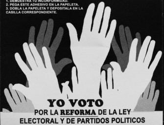 An inclusive reform? Analysis of the Law of Elections and Political Parties