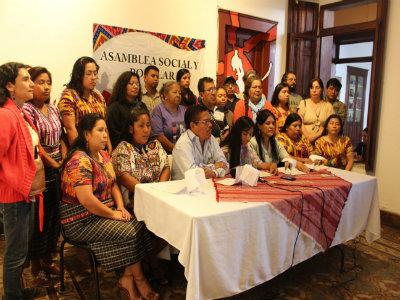Conferencia de prensa para presnetar la marcha por el agua, Guatemala. Foto ASP