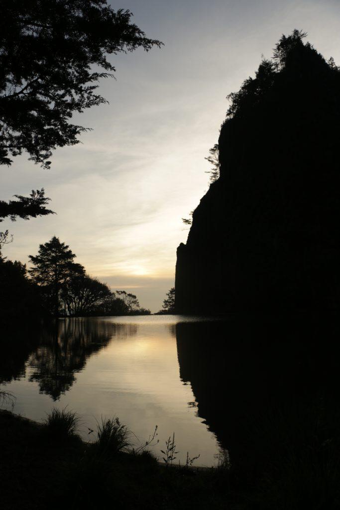 La laguna Magdalena al amanecer en abril de 2016. Foto por: Patricia Macías