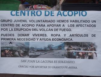 La solidaridad guatemalteca tras la erupción