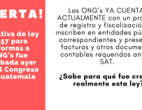 El Peligro de las Reformas a las ONG's
