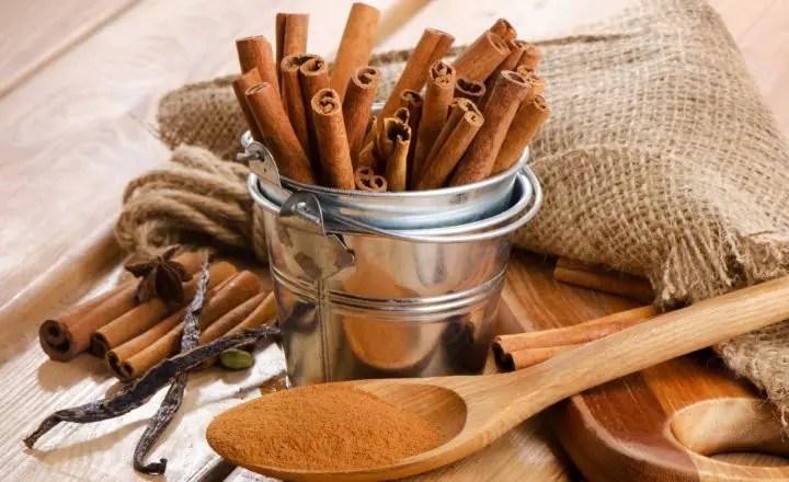 La canela reduce el azúcar en sangre