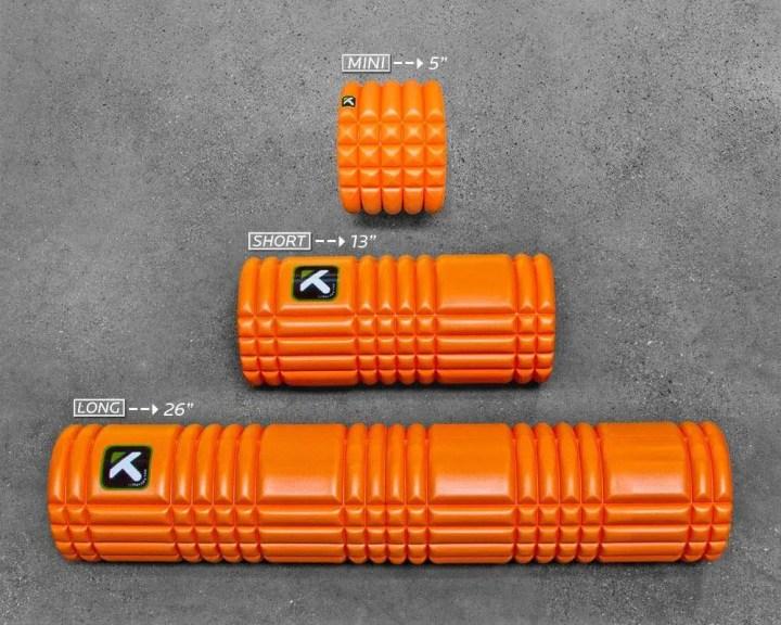 Foam roller cortos para áreas determinadas del cuerpo