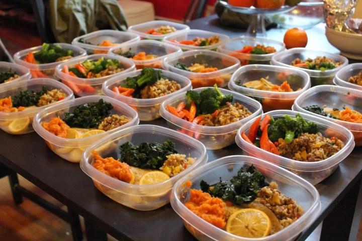 preparar con anticipación la comida para toda la semana