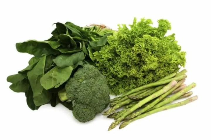 Las verduras verdes combaten la tristeza ocasionada por el invierno