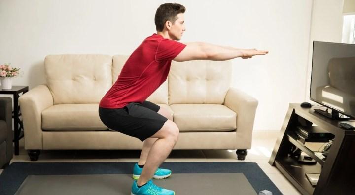 Sentadillas para fortalecer los glúteos