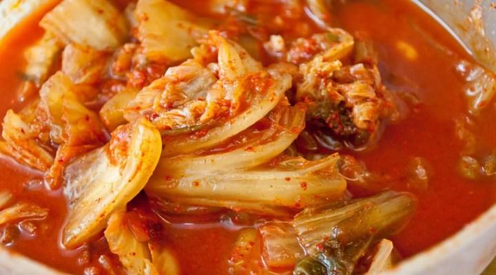 kimchi înainte și după pierderea în greutate