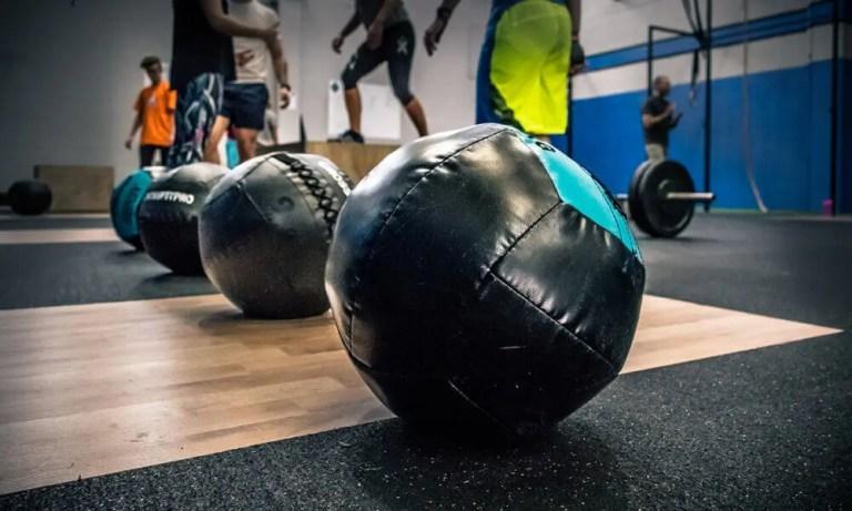 Balones medicinales de cuero para entrenamiento de crossfit