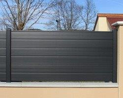cloture pvc grise l 1500 x h 900 mm par 3 morey
