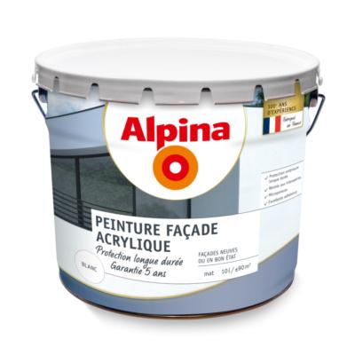 peinture facade acrylique 5 ans ton pierre 10 litres alpina