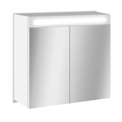 Armoire De Toilette Lumineuse Led Giulia 60x60x17cm Mp Glass 1059381 Salle De Bains L Entrepot Du Bricolage