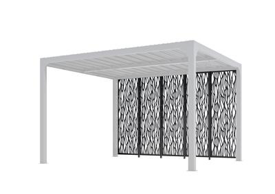 panneaux decoratifs en metal par 5 pour pergola bioclimatique habrita