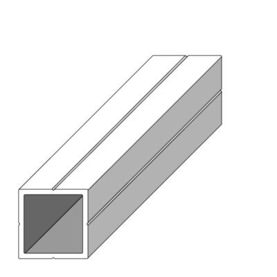 tube carre combitech 15 5 x 15 5 mm pour m12 aluminium brut 1 m alfer