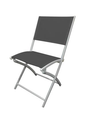 chaise pliante aluminium grey gris