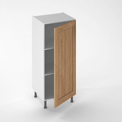 facade de cuisine 1 porte lounge chene verni 130 x 60 cm pour meuble colonne