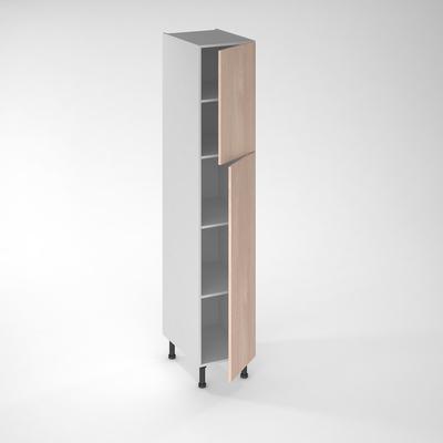 facade de cuisine 1 porte chene blanchi 130 x 40 cm pour meuble colonne
