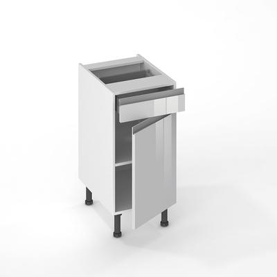 facade de cuisine 1 porte 1 tiroir jade nuage 70 x 40 cm pour meuble bas