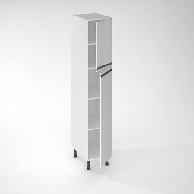 facade de cuisine 1 porte ibiza blanche 130 x 40 cm pour meuble colonne