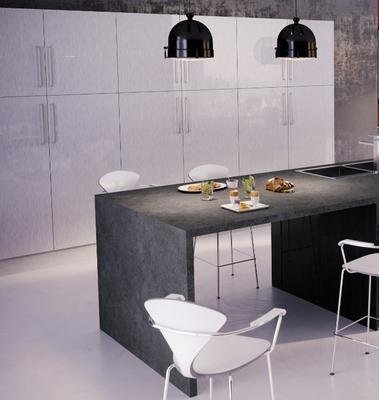 facade de cuisine 1 porte gris aluminium 70 x 40 cm pour meuble haut et bas