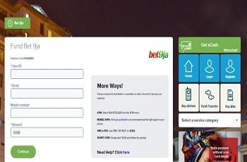 funding bet9ja account