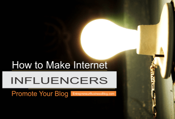 Make internet influencers promote my blog