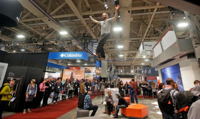 Outdoor Retailer show at the Salt Palace Convention Center in Salt Lake City.