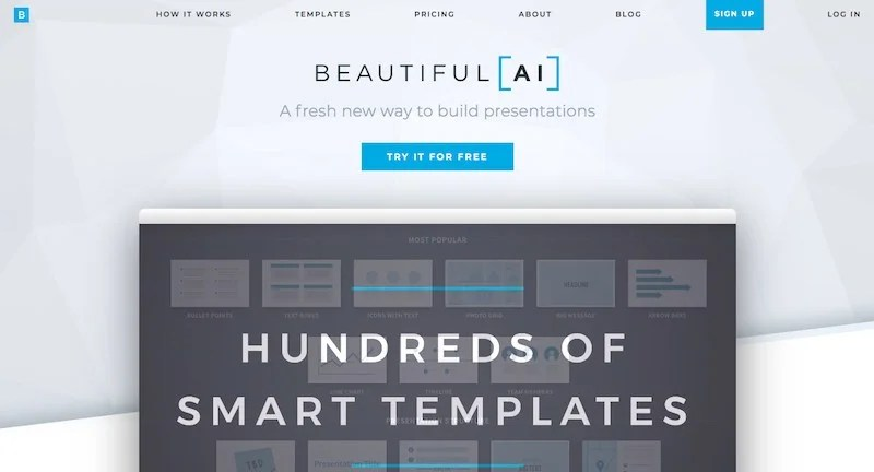 How this artificial intelligence software called Beautiful.ai helps in designing a topnotch presentation